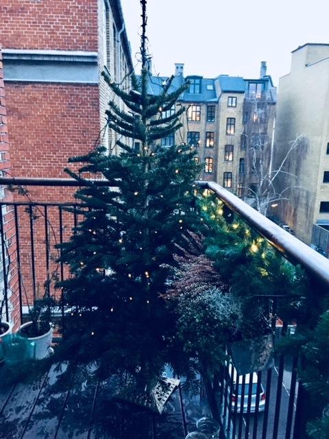 Juletræ på altanen
