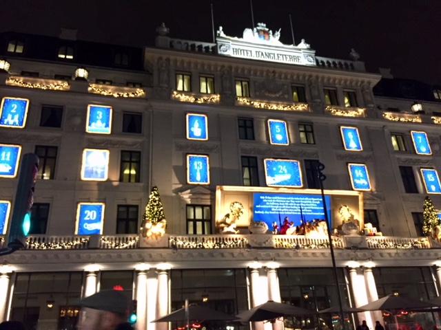 Jul på Hotel d'Angleterre